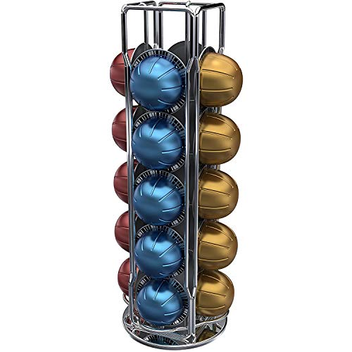 Tavola Swiss 50.VERTUO Porte-capsule rotatif, Argent