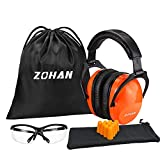 ZOHAN 030 Noise Reduction Safety Ear Muffs for Shooting Hunting NRR 29dB (Orange)