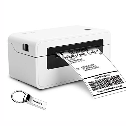 Label Printer, Direct Thermal Desktop Label Printer, High Speed USB Shipping Label Maker for UPS, FedEx, Etsy, Ebay, Amazon Barcode Printing - 4x6 Printer