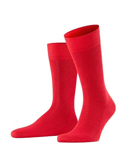 FALKE Herren Socken Family, Baumwolle, 1 Paar, Rot (Scarlet 8280), 39-42 (UK 5.5-8 Ι US 6.5-9)