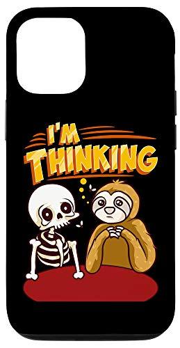 iPhone 12/12 Pro Waiting Skeleton Thinking Meme Dead Case