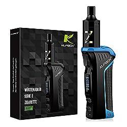 Kupbox 100W E Zigarette Starter Set Ohne Nikotin, WÜSTENADLER Serie elektrische zigarette mit 0.5Ohm 2ml Verdampfer Tank, 2600mAh wechselbare Akku Kit - blau