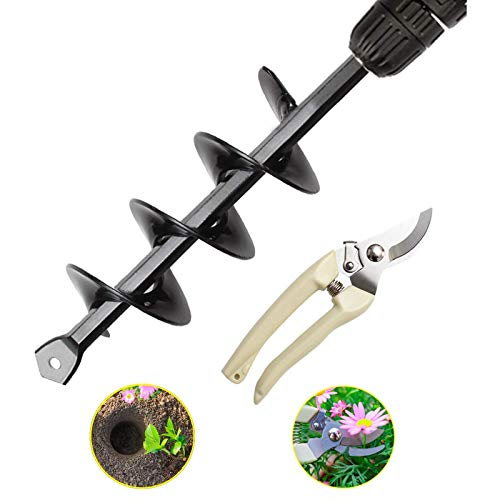 Roddya Garden Spiral Drill Bit,Garden Pruner,Planter Garden Auger Digger...