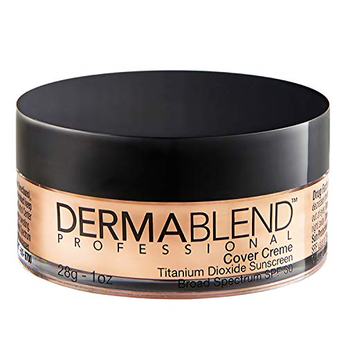 Dermablend Cover Creme High Coverage Foundation with SPF 30, 10N Warm Ivory, 1 Oz.