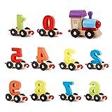 Juguete Montessori 1 Juego de bloques de tren Montessori Juguetes interactivos Juguetes educativos para bebés Bloques para bebés Niños pequeños Juego de bloques de apilamiento sensorial Mta Tren de ju