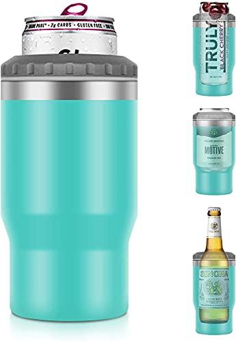 Raffreddatore per lattine, sottile, isolato, a doppia parete, contenitore isolato in acciaio inox, adatto per Skinny Tall Can/Standard Can/Bier Bottle antiscivolo