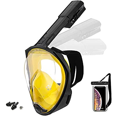 Foldable Full face Snorkeling mask with New Saf...