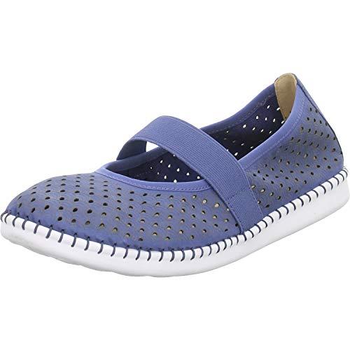 CAPRICE Damen INNA Slipper, Blau (Jeans Nubuc 895), 37 EU
