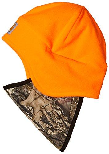 Carhartt Men's Fleece 2 in 1 Headwear, Hunter Orange Break up Country, OFA