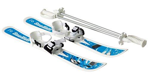 HAMAX Kinder Ski erste Lernski mit Stöcken SNO Kids blau