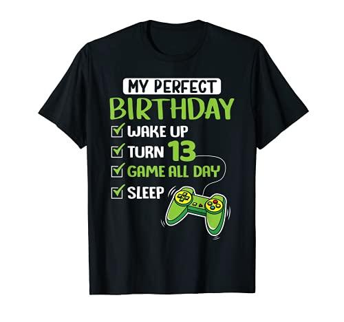 13 años de edad Gamer 13 cumpleaños Regalo perfecto para los Camiseta