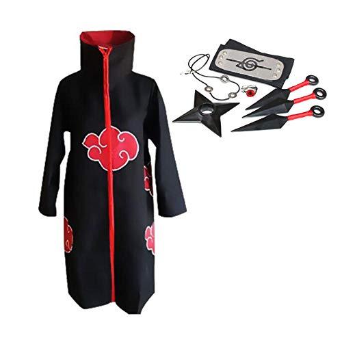Anime Naruto cosplay disfraz Akatsuki Uchiha Itachi Shuriken frente diadema accesorios trajes cosplay accesorios