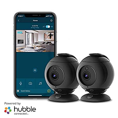 Motorola Focus89B-2 Wireless Indoor Camera for Home-Security Surveillance with Temperature, Sound and Motion Detection, Remote Pan, Tilt, Digital Zoom, Two-Way Talk, 1080p, Night Vision