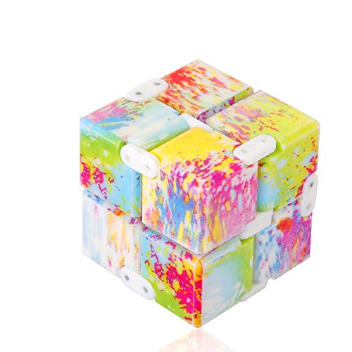 open up to love Infinity Cube Fidget Toy Hand Killing Time Prime Infinite Cube for ADD, ADHD, Anxiety, and Autism Adult and Children (Colour)