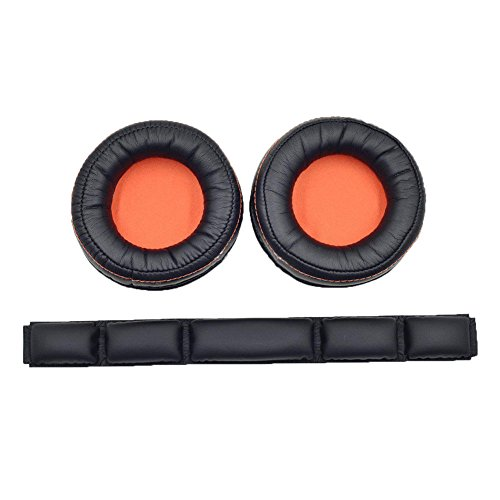 Meijunter Headset Ohr Pad Ohrpolster+Kopfband Pad Set für SteelSeries Siberia 800/840 Headsets, Ersatz Ohr Pad Ohrkissen Ohrenschützer Stirnband Pad Kopfstrahl Set