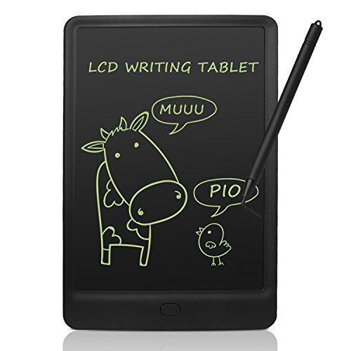 NEWYES Tavoletta Grafica LCD con Custodia, 8.5 Pollici Tablet da Disegno Lavagna Elettronica Scrittura Digitale, Diversi Colori per Bambin(Rosa+Caso)