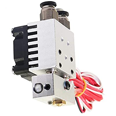 Dual 3D Printer extruder Accessorie 2 in 1 Out Single Mixing Printing Head 12V Two-Color Extruder Assembly Kits