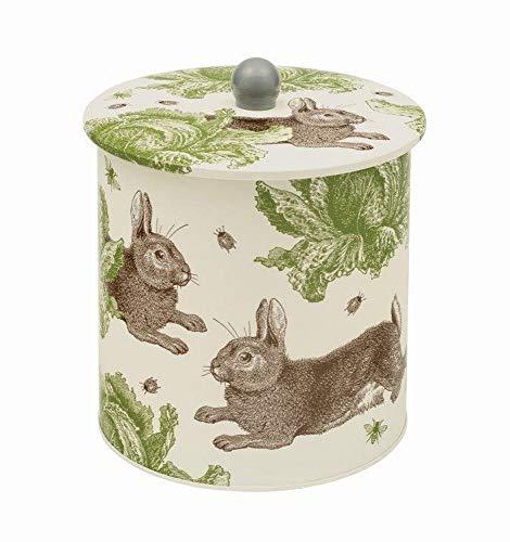 Thornback & Peel - Barattolo in latta per biscotti, stile country, motivo: conigli e cavoli