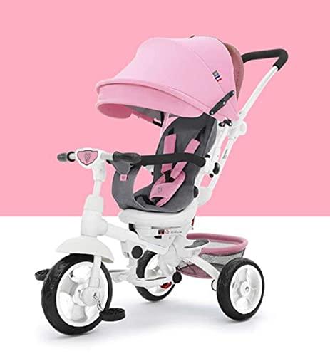 OHHG Bicicleta niños, Triciclo Triciclo Cochecitos bebé Plegable Trolley dirección Triciclo/Bicicleta Carrito bebé/Bicicleta bebé Cochecito bebé, 1-6 años