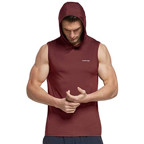 Ogeenier Herren Tank Top, Sport Hoodie Muskelshirts Achselshirts Ärmelloses Shirt Männer für Fitness Gym Running