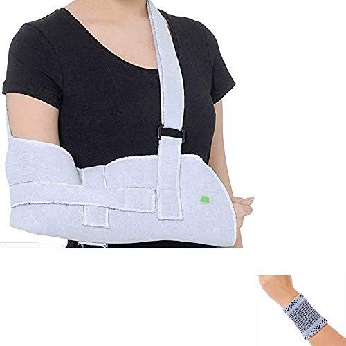 Amsahr Medical Armschlinge Arm Brace Armauflage Breathable Ineinander greifen Schulter Wegfahrsperre - Universal (27-40 cm) Unterarm- Länge- enthalten Handgelenk-Band