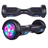 "SISGAD Hoverboard for Kids, 6.5"" Self Balancing Electric Scooter with Bluetooth and LED Lights, Off Road Adult Segway, UL2272 Certified"