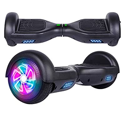 """SISGAD Hoverboard for Kids, 6.5"""" Self Balancing Electric Scooter with Bluetooth and LED Lights, Off Road Adult Segway, UL2272 Certified"""