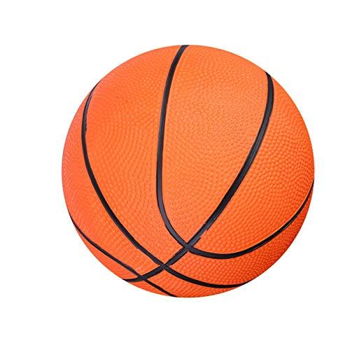 DAUERHAFT Mini Kinderbasketball, aufblasbarer Basketball, Schwimmbadbasketball, rutschfeste Oberfläche, Gummimaterial, sicher und langlebig, weich und federnd, für Kinder, drinnen Spielen, orange