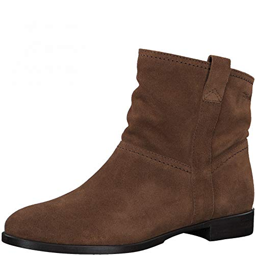 Tamaris Damen Stiefeletten, Frauen Ankle Boots, Stiefel halbstiefel Bootie knöchelhoch reißverschluss weiblich Lady Ladies,Cognac,39 EU / 5.5 UK