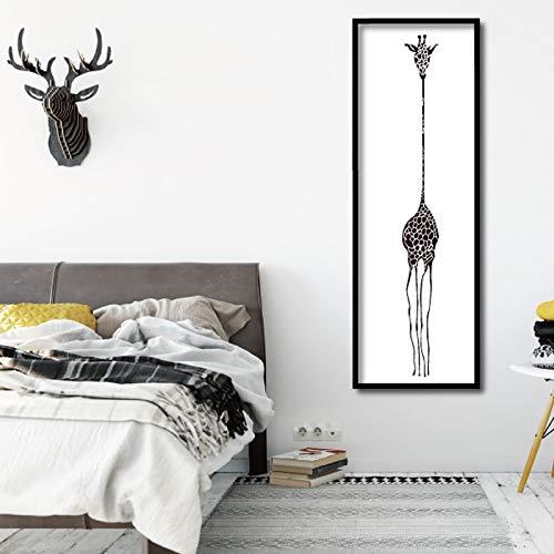 Giraffe Zebra Tier Poster Leinwand Malerei Wandkunst Drucke Giclée Kunstwerk fNursery Dekoratives Bild Nordic Style Kids Deco 30x90cm