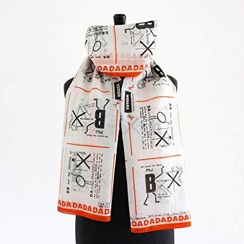 DADAISMUS SCHAL Dada Bauhaus Kunst Surrealismus Baumwolle Seide