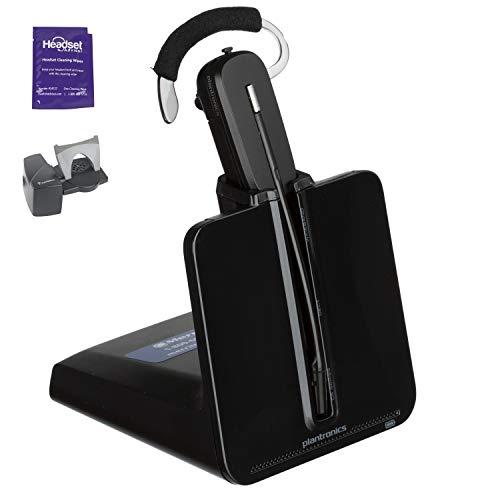 Plantronics CS540 Wireless Headset Bundle with Lifter and Headset Advisor Wipe (Renewed)