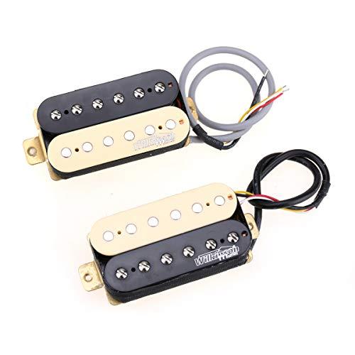 Wilkinson Klassischer Ton Keramik Overwound Open Style Humbucker Pickups Tonabnehmer Set für E-Gitarre, Zebra