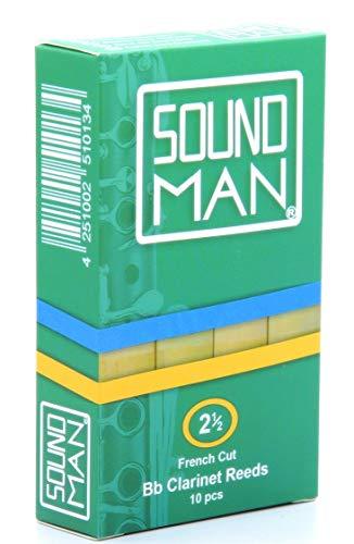 10 Soundman® Cañas de Lengüeta para Clarinete Boehm - Fuerza 2,5