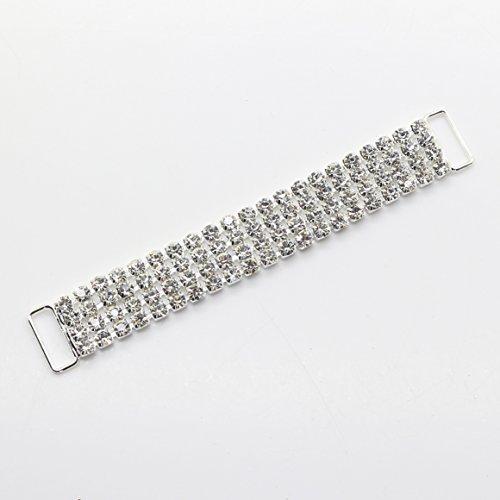 8 pièces/lot de 100 mm – Chaîne en métal Boutons strass Bikini Maillots de bain Connecteurs/Boucle pour maillots de bain