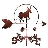 Donkey Roofs Weathervane Iron Art Decor, creativo indicador de dirección del viento de la veleta de viento de animales para jardines al aire libre, jardines, patios traseros, cobertizos, adorno, herr