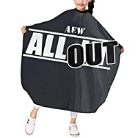 AEW All Out 散髪ケープ ヘアーエプロン キッズ サロン 家庭 美容院 理髪 便利 散髪 撥水 静電気防止 柔らか つるつる 上質 ファッション 男女兼用 プレゼント