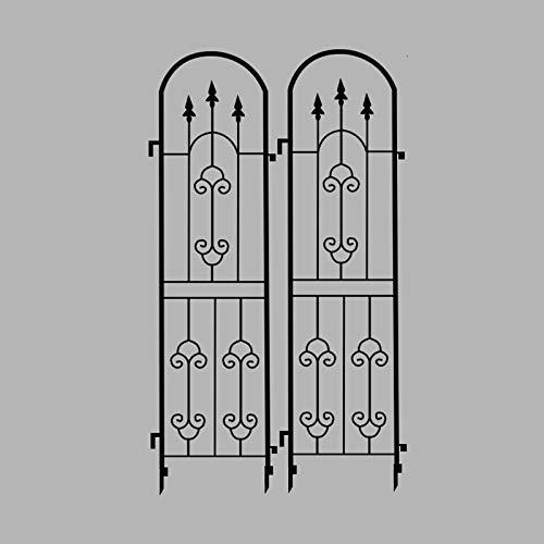 Trellis Green 2er-Set, Clematis Klettergerüst Bildschirm Rose Rahmen Blumennetz Blumenrahmen Gitterrahmen Gartenzaun Klettergerüst