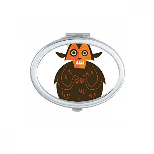 Ghost Fear - Espejo de bolsillo de maquillaje para Halloween, diseño ovalado, portátil, bonito espejo de mano pequeño, regalo