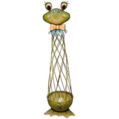 hsj Grüner Frosch Blumenständer Klettergerüst Schmiedeeisen Blumentopfständer grüner Stiel Rebe Clematis Klettergerüst Rebe Vollrahmen Einrichtung