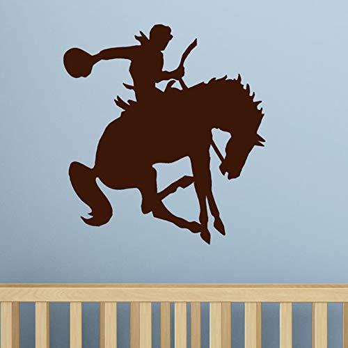 Tianpengyuanshuai Cowboy Muurtattoo Stickers Kinderen Western Decoratie Huishoudtextiel Woonkamer Slaapkamer Behang 46,5 x 45 cm