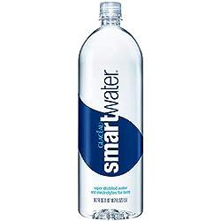 smartwater vapor distilled premium water bottle, 1.5 Liter Bottle