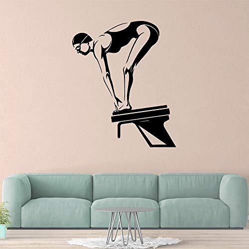 mlpnko Buceo Deportes Pegatinas de Pared Personalidad decoración Creativa Sala de Estar Dormitorio extraíble Mural Decorativo 28X34cm