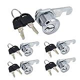 5Pcs Tool Box Lock 13/16 inch (19.5mm) Cabinet Cam Locks Drawer Door Mailbox Cam Lock with Key