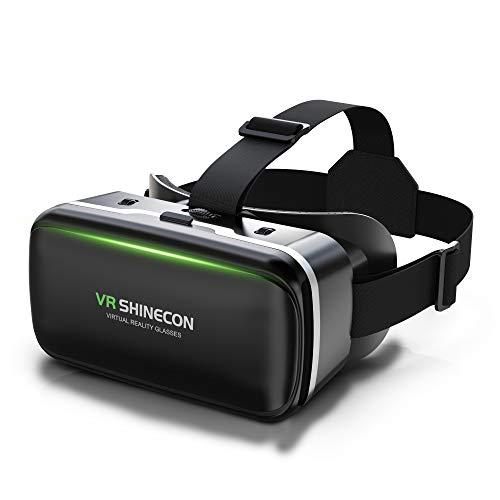 Dasimon【令和改良版VRゴーグル】VRヘッドセット VRヘッドマウントディスプレイ スマホ用 ピントや目幅調整可 -6.00D近視/+2.00D遠視適用 非球面光学レンズ 眼鏡対応 ブルーライトカット 視力保護 120°超広角 装着感良い 4.7~6.5インチiPhone&androidなどのスマホ対応 軽量 1080PHD高画質 3Dメガネ 優れた通気性 自粛応援 自宅で楽しむ 日本語説明書付 入学祭プレゼント