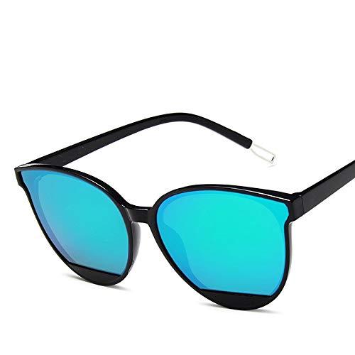 WDDYYBF Zonnebril voor dames en heren, klassieke zonnebril, kleuren, vintage, retro, modieus, groene merkkuur, trendy tranen, zonnebrillen, modieus, wilde dames, zonnebril, zwart, groot gezicht, jelly-glazen, uv-bescherming