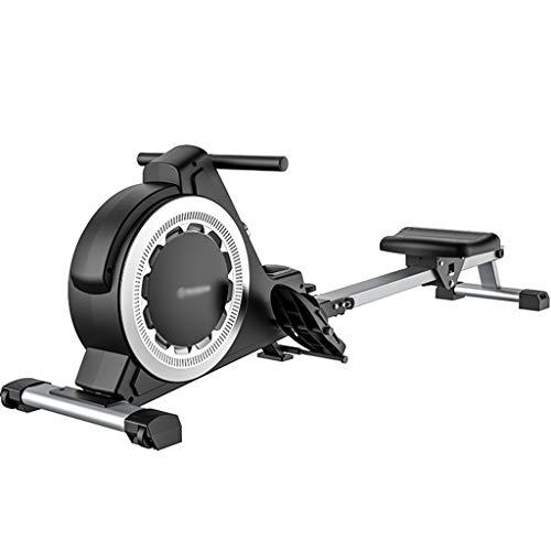 Máquinas de remo Equipo De Gimnasia Multifunción Para El Hogar Equipo De Remo Inteligente Plegable Remadora Silenciosa De Interior Con Control Magnético ( Color : Black , Size : 195*47.5*58 cm )
