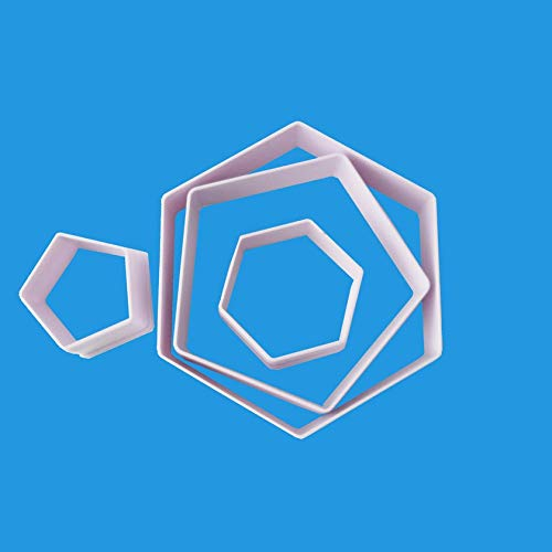 4pcs Hexagon Fußball geformte Plastik Kuchenform Ausstecher Zucker Craft Fondant Kuchen Werkzeuge Kuchen Dekoration Form Gebäck Werkzeug