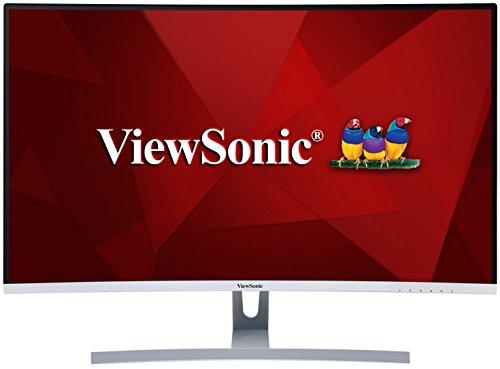 Viewsonic VX3217-2KC-MHD 80 cm (32 Zoll) Curved Monitor (WQHD, VA-Panel, HDMI, DP, mDP, 5 ms, Eye-Care, Multidisplay) silber-schwarz
