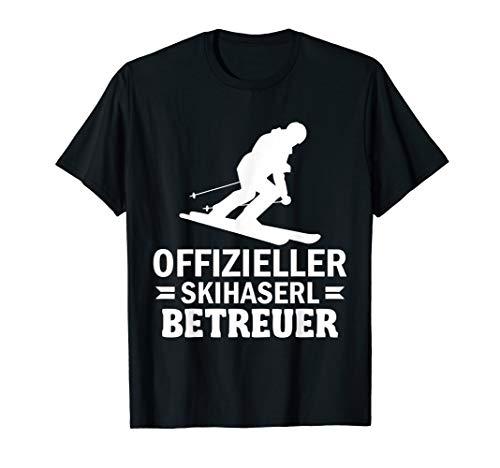 Herren OFFIZIELLER SKIHASERL BETREUER - für Skilehrer   Ski Profis T-Shirt